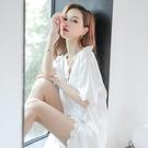 2021年新款睡裙女夏季雪紡性感薄款很仙的春秋中長款私房網紅 快速出貨