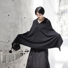 秋季新款暗黑風個性針織V領毛衣斗篷外套/設計家分店