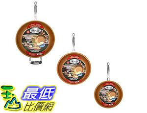 [8美國直購] 陶瓷不沾鍋 GOTHAM STEEL 3-Piece Nonstick Frying Pan Set 9.5吋+11吋+12.5吋 B01LXLAJ89