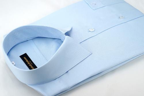 【金‧安德森】藍色點綴吸排窄版長袖襯衫