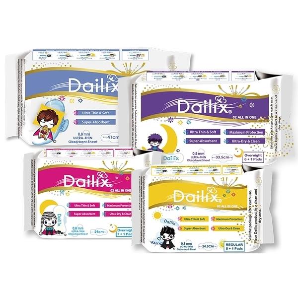 Dailix 吸血鬼超瞬吸抑菌淨味乾爽衛生棉(1包入) 款式可選【小三美日】