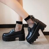 春秋新款熱賣原宿大頭娃娃鞋百搭厚底日系萌妹淺口鞋lolita軟妹鞋