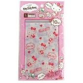 小禮堂 Hello Kitty 直式方形透明夾鏈袋組 塑膠分裝袋 糖果袋 飾品袋 銅板小物 (S 10入 粉) 4573135-58512