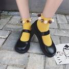 大頭鞋女韓範學生原宿韓國娃娃復古可愛圓頭皮帶扣ulzzang小皮鞋 洛小仙女鞋