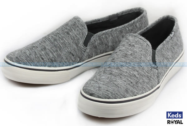 Keds 新竹皇家 DBL DECK QUILTED CHARCOAL 灰色 棉布 休閒鞋 女款 NO.I6939