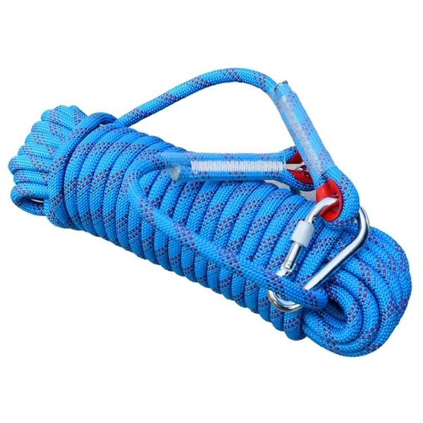 登山繩子耐磨高空戶外攀巖繩尼龍逃生繩安全繩救生繩【探索者】