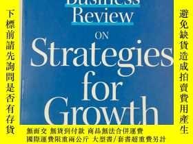 二手書博民逛書店Harvard罕見Business Review on Strategies for Growth 哈佛商業評論成