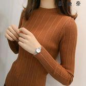 針織衫毛衣女秋冬新款打底衫長袖短款修身緊身 蘇迪奈
