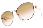 FENDI太陽眼鏡 FF0335FS DDBM2 (玫瑰金-漸層棕粉鏡片) 名人時尚造型款 # 金橘眼鏡