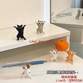 貓咪筆架沙雕妖嬈IG可愛網紅抬棺貓咪筆托架桌面小擺件【時尚好家風】