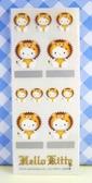 【震撼精品百貨】Hello Kitty 凱蒂貓~KITTY貼紙-星座貼紙-獅子