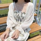 雪紡開衫上衣外套薄款夏季配吊帶裙子外搭罩衫短款小披肩防曬衣女 韓國時尚週 免運