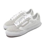 adidas 休閒鞋 Continental VULC 白 灰 男鞋 麂皮設計 運動鞋 【PUMP306】 EF3523