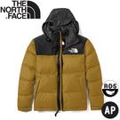 【The North Face 男 ICON經典配色保暖鵝絨外套《土黃》】496S/羽絨外套/保暖外套/夾克