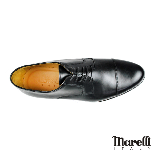 【Marelli】都會橫飾手工德比鞋 黑色(M852-BL)