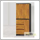 {{ 海中天休閒傢俱廣場 }} G-12 摩登時尚 臥室系列 233-5 海彎積層木3x7尺三抽衣櫥