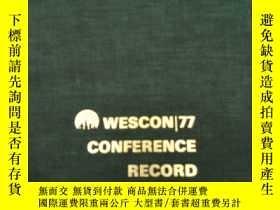 二手書博民逛書店WESCON罕見77CONFERENCE RECORD(S380