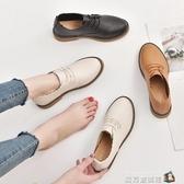 平底小 鞋女 新款秋韓版百搭內增高單鞋黑色學生網紅女鞋子潮  魔方數碼館