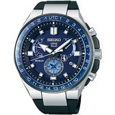 廣告款 SEIKO精工 ASTRON 8X53 雙時區鈦GPS衛星定位手錶 8X53-0BB0B(SSE167J1)