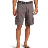 【Lee】男斜紋D形環帶膝蓋懷俄明貨物短褲(蒸氣色)