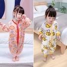 寶寶連體睡衣春秋季1純棉2防著涼3歲嬰兒童睡袋4小孩男女童家居服