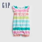 Gap嬰兒 Logo紮染短袖包屁衣 73...