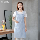 圍裙圍裙薄款夏季韓版時尚防水防油女做飯廚房家用圍腰可愛日系女工作 免運