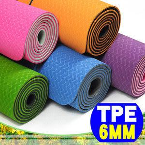 瑜珈墊│【SAN SPORTS】環保TPE 6MM雙色瑜珈運動墊(加長版)贈瑜珈背袋.推薦哪裡買哪裡買
