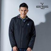 Emilio Valentino范倫鐵諾經典防風鋪棉保暖外套(黑)
