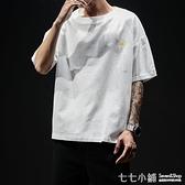 棉麻T恤~夏季短袖T恤男棉麻透氣胖子潮寬鬆加肥加大碼半袖上衣亞麻打底衫