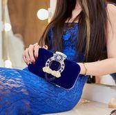 手拿包新款新娘結婚紅時尚日韓晚宴鏈條潮手提包 DN3337【野之旅】