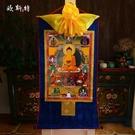 釋迦摩尼佛唐卡 西藏鍍金藏式客廳裝飾畫釋迦牟尼佛像唐卡掛畫 熊熊物語