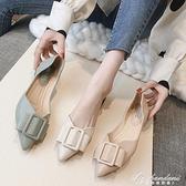 尖頭單鞋女2020年新款網紅平底百搭時尚軟底鞋子夏季豆豆鞋瓢鞋夏 黛尼時尚精品