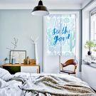 可愛時尚棉麻門簾E292 廚房半簾 咖啡簾 窗幔簾 穿杆簾 風水簾 (85寬*90cm高)