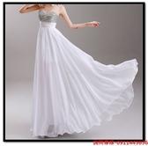 (45 Design) 訂做款式7天到貨白色晚宴宴會年會新娘伴娘演出主持人婚紗晚裝禮服
