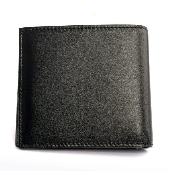 【BALLY】BRASAIE光滑牛皮壓印LOGO短夾(黑) 6220451