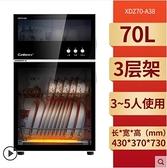 新品220vA38消毒櫃家用小型立式殺菌碗櫃迷你廚房高溫臺式雙門碗筷