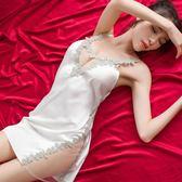 新春狂歡 性感睡衣女夏火辣蕾絲成人外穿冰絲情趣絲綢情調衣人春秋吊帶睡裙 艾尚旗艦店
