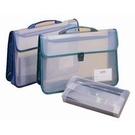 《享亮商城》CA-2673 PP透明雙層織帶書道盒