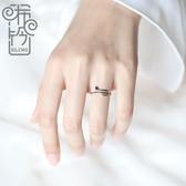 悅動音符戒指女純銀開口可調節