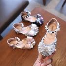 女童涼鞋 女童單鞋公主鞋春夏兒童軟底包頭半涼鞋小女孩蝴蝶結寶寶皮鞋-Ballet朵朵