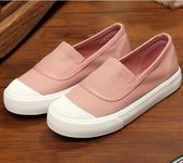 兒童布鞋女小白鞋一腳蹬板鞋男童帆布鞋 ZL766『黑色妹妹』