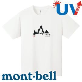 【Mont-Bell 日本 男款 Wickron  WIC.T YAMA山短袖排汗T恤《白》】1114145/春夏款/ T恤/短袖/排汗衣★滿額送