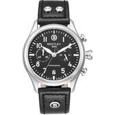 【BENTLEY】賓利 AVIATOR系列 遨翔菁英計時手錶 (黑面/黑 BL1684-30WBB)