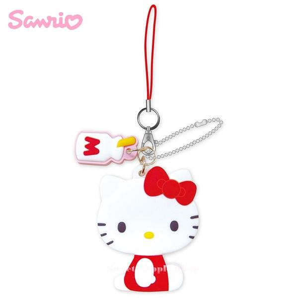 日本限定 三麗鷗  HELLO KITTY 凱蒂貓 珠鏈手機吊飾