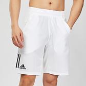 Adidas TENNIS CLUB 3STR SHORT 男款 白色 運動 透氣 網球 短褲