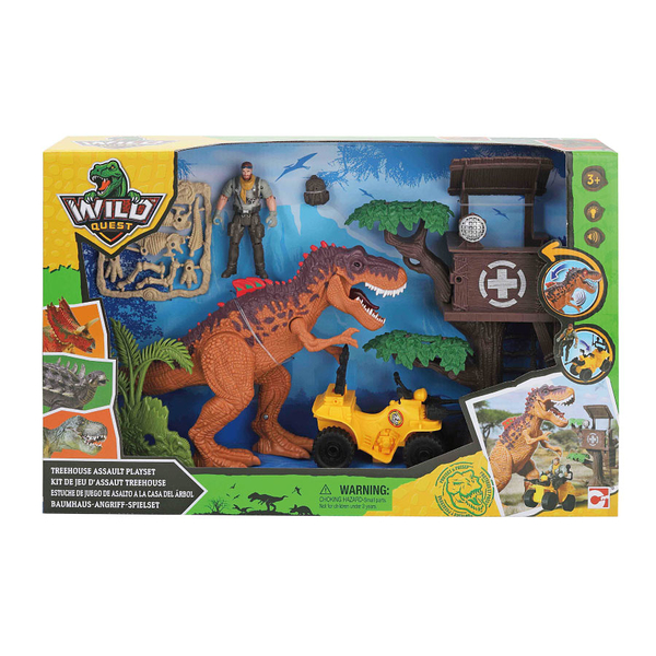 Wild Quest Dino 樹屋場景組 玩具反斗城