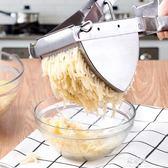 手動榨汁機壓汁原汁機家用炸石榴果汁不銹鋼土豆壓泥神器擠檸檬夾     易家樂