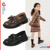 女童小皮鞋春秋韓版黑色公主單鞋真皮蝴蝶結小女孩學生鞋 BBJH