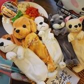 文具盒韓國卡通動物毛絨小狗狗大容量學生筆袋鉛筆文具盒 瑪奇哈朵
